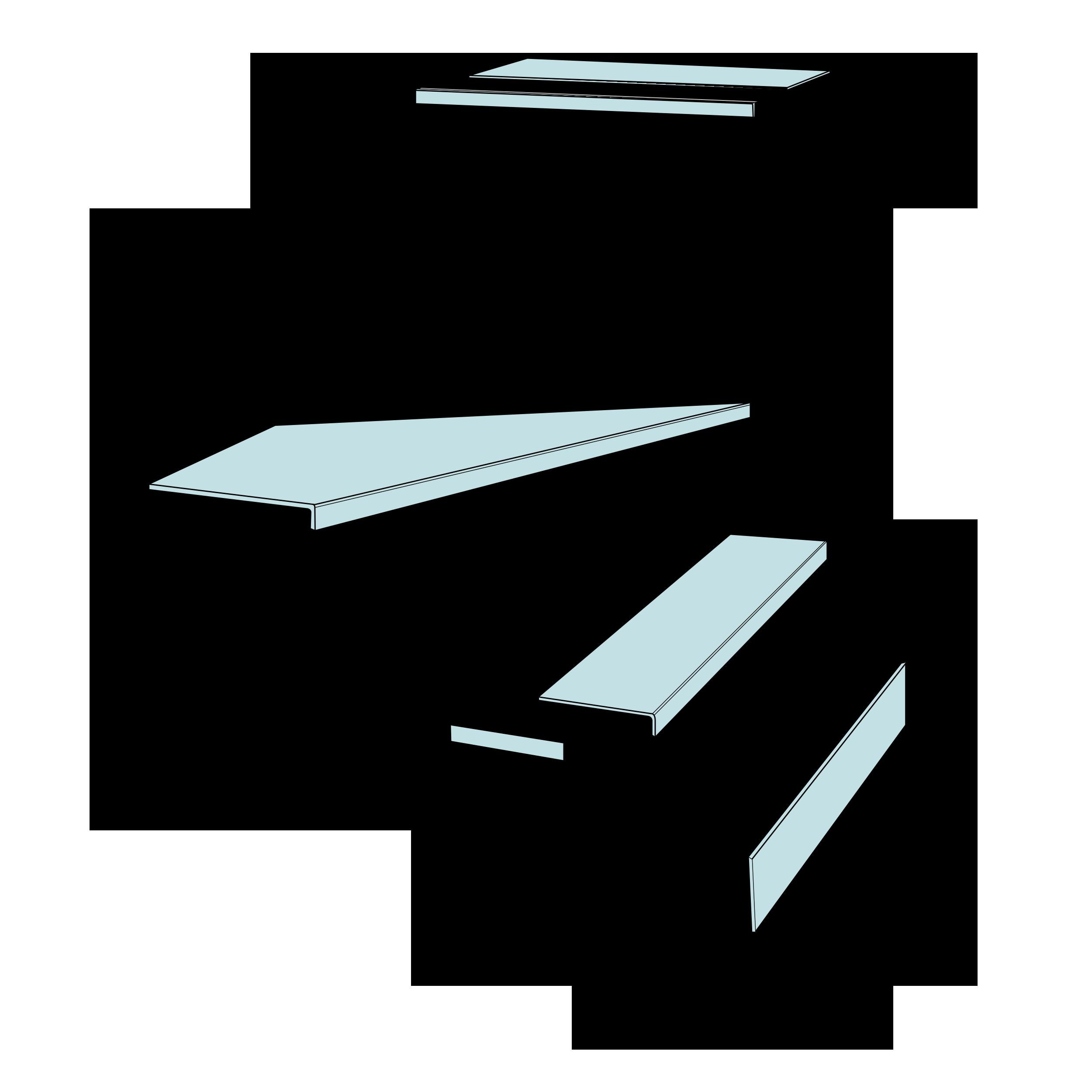 Tekening van een trap